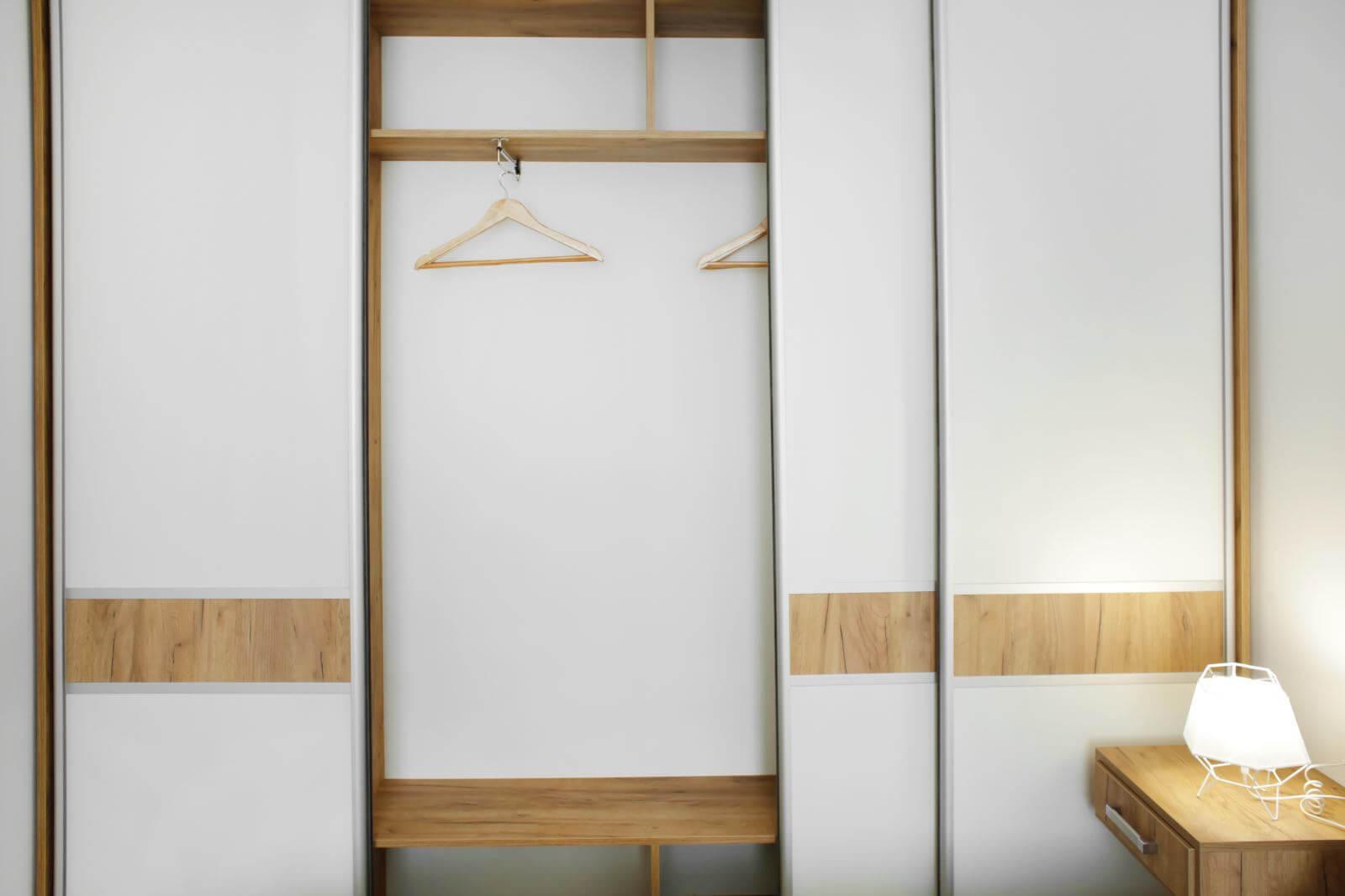 Beautiful wardrobe in room