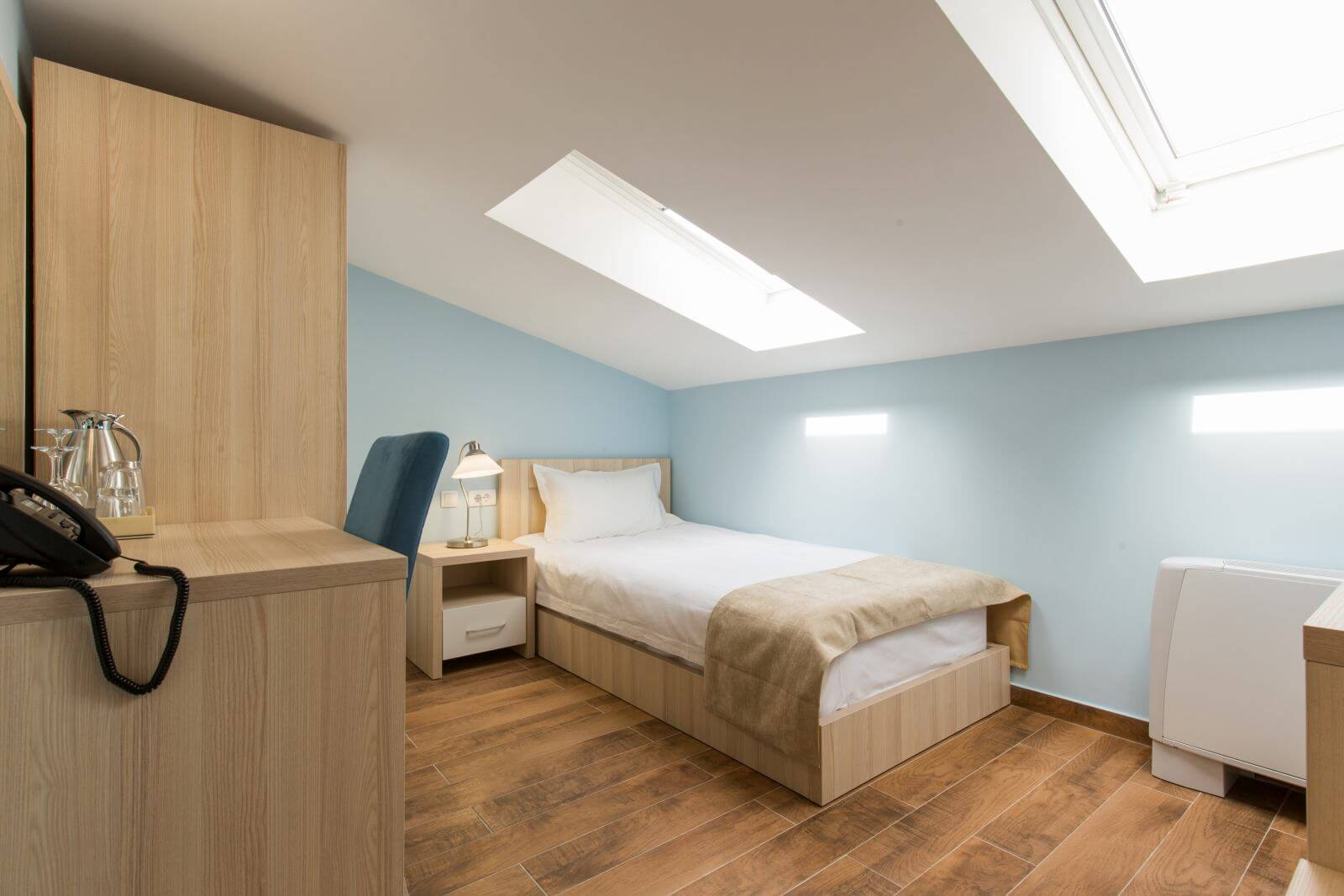 Interior of a bedroom in loft apartment