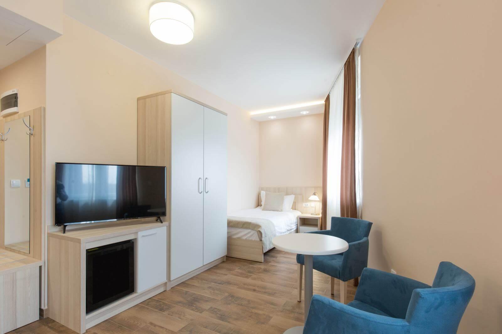 New renovated hotel room interior