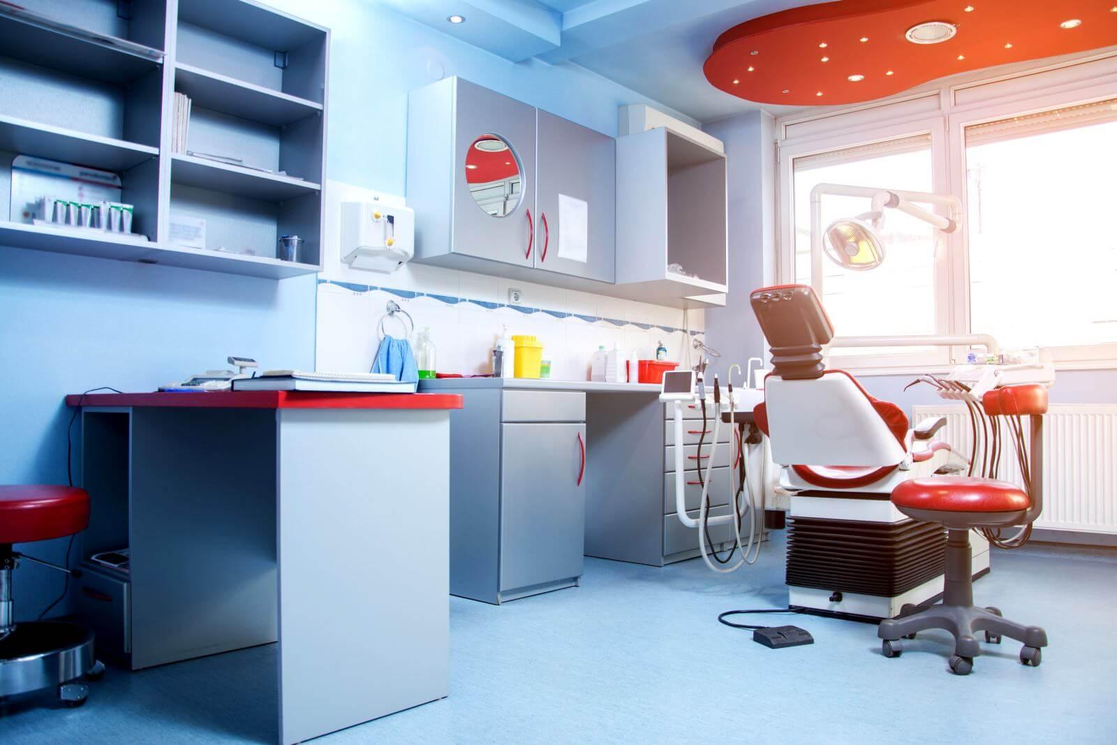 Dental office interior.